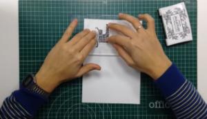 Transferir el sello a la superficie escogida